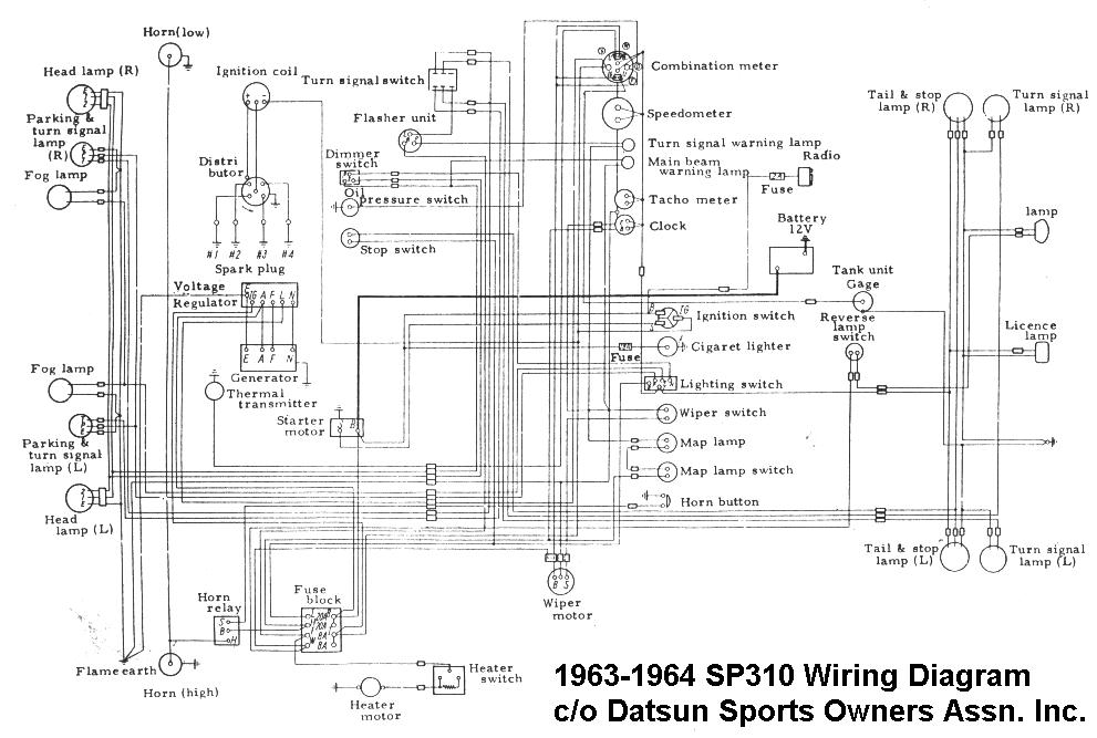 Nissan 1400 Electrical Wiring Diagram : Datsun wiring diagram free engine image for