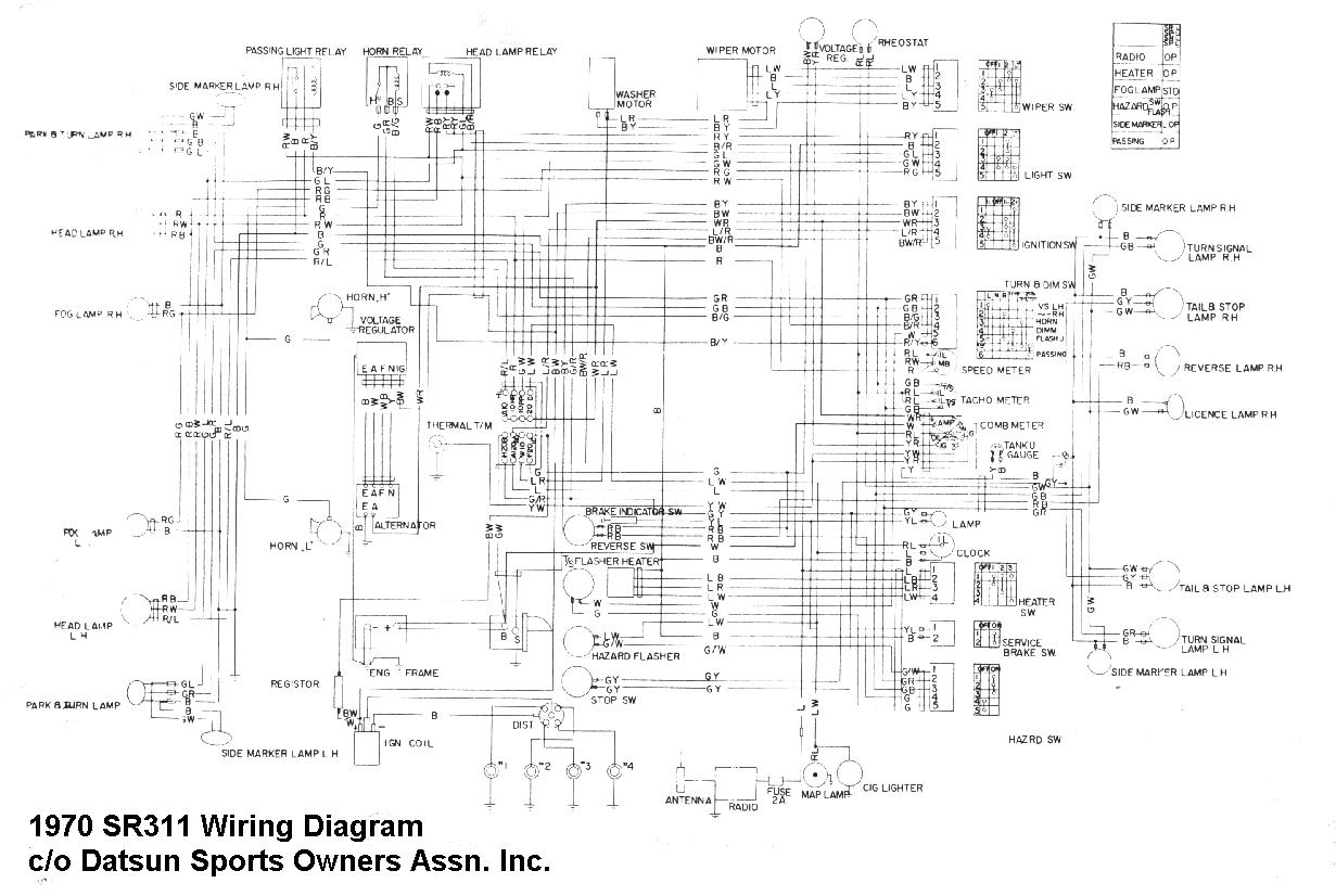 71 Datsun 240z Wiring Diagram Schematic Diagrams 1978 280z Harness Roadster Product U2022 1973 620